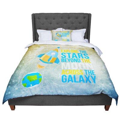 Nick Atkinson Explore the Stars Comforter Size: King