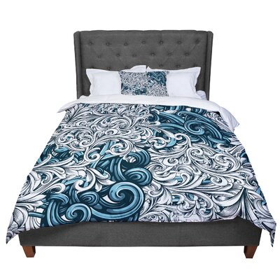 Nick Atkinson Celtic Floral II Comforter Size: Queen