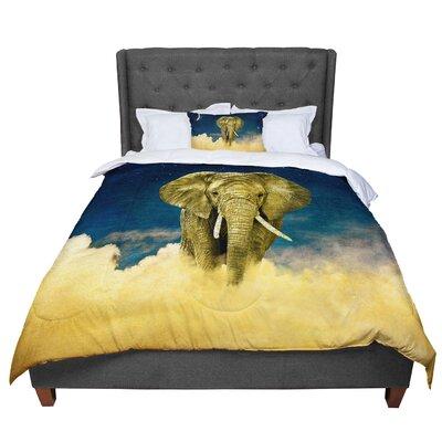 Nick Atkinson Celestial Elephant Comforter Size: Queen