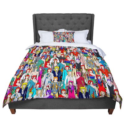 Notsniw Wheres Bowie Comforter Size: King