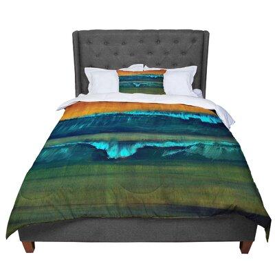 Nathan Gibbs Leaf Tea Comforter Size: King