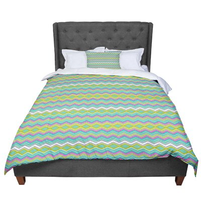 Nicole Ketchum Chevron Love Comforter Size: King