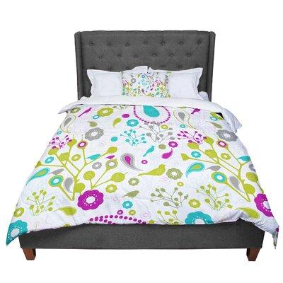 Nicole Ketchum Bird Fantasy Comforter Size: Queen