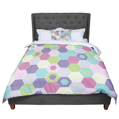 Nicole Ketchum Pale Bee Hex Comforter Size: King