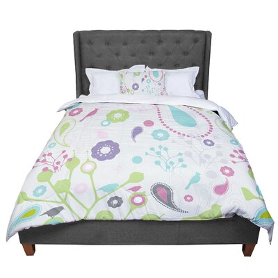 Nicole Ketchum Bird Song Comforter Size: Queen