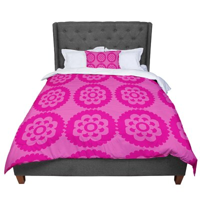 Nicole Ketchum Moroccan Comforter Size: King, Color: Pink