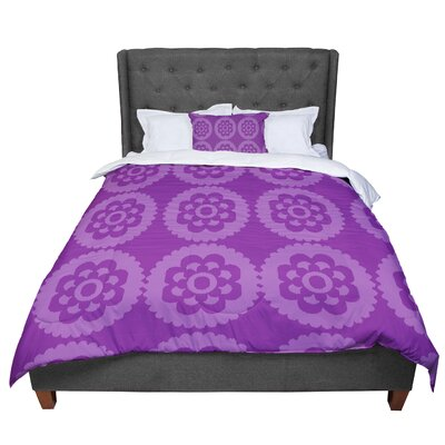 Nicole Ketchum Moroccan Comforter Size: Twin, Color: Purple
