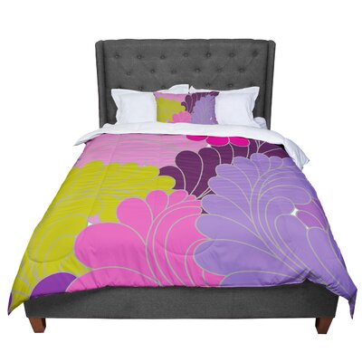 Nicole Ketchum Moroccan Leaves Comforter Size: King