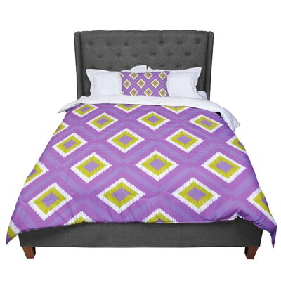 Nicole Ketchum Purple Spash Tile Comforter Size: King