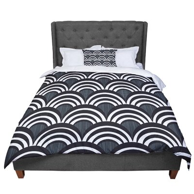 Nicole Ketchum Art Deco Comforter Size: King, Color: Black