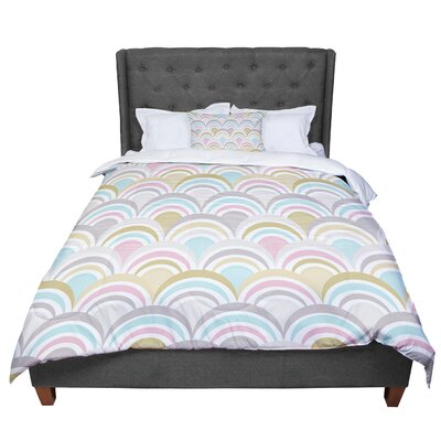 Nicole Ketchum Art Deco Comforter Size: King, Color: Pastel
