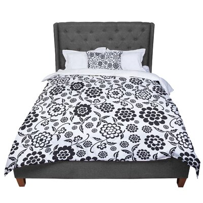Nicole Ketchum Cherry Floral Comforter Size: King