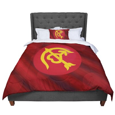 Designs Mars Marsala Comforter Size: King