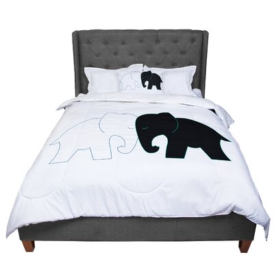 Designs and Elephant Love Comforter Size: Queen