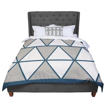 Designs Coral Peach Triangles Comforter Size: Twin, Color: Beige