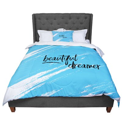 Designs Beautiful Dreamer Typography Comforter Size: King