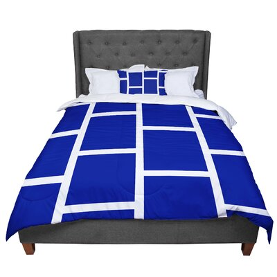 Designs Square Blocks Comforter Size: Queen