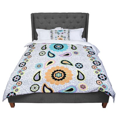 Nina May Moda Paisley Flower Comforter Size: Queen