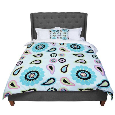 Nina May Paisley Candy Paisley Flower Comforter Size: Queen