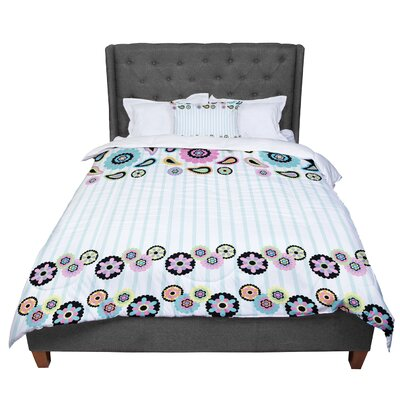 Nina May Paisley Party Paisley Flower Comforter Size: Queen
