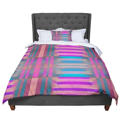 Nina May Tracking Stripes Comforter Size: Queen