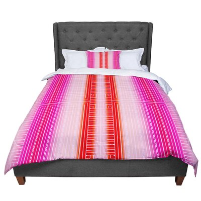 Nina May Deco City Comforter Size: Twin, Color: Pink/Red