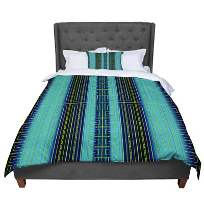 Nina May Deco City Comforter Size: King, Color: Turquoise/Blue