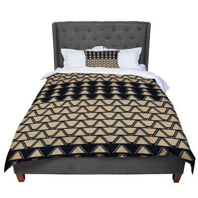 Nina May Deco Angles Comforter Size: King