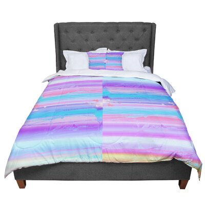 Nina May Drip Dye Paint Comforter Size: Queen
