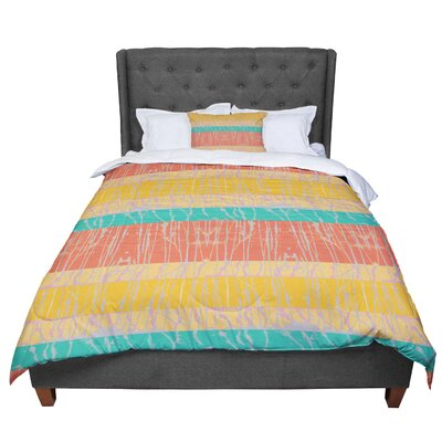 Nina May Desert Splatter Comforter Size: Queen, Color: Orange/Gold