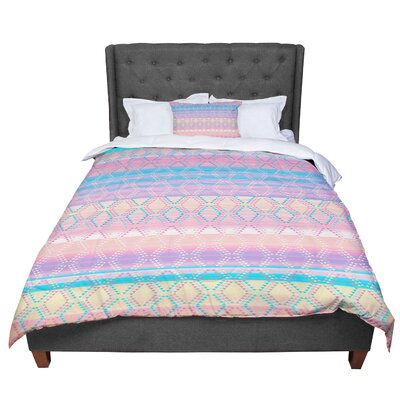 Nina May Denin Diamond Gradient Comforter Size: King, Color: Pastel