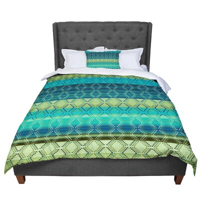 Nina May Denin Diamond Gradient Comforter Size: Twin, Color: Turquoise