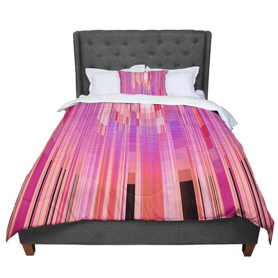 Nina May Mohave Sun Geometric Comforter Size: King, Color: Pink