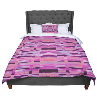 Nina May Samanna Coral Tribal Comforter Size: King, Color: Pink/Gray