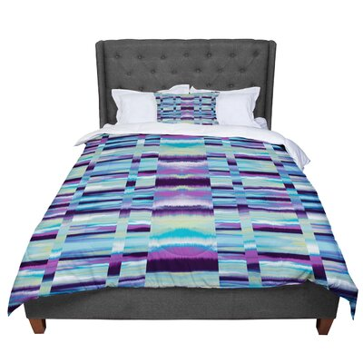 Nina May Samanna Coral Tribal Comforter Size: Queen, Color: Blue/Black