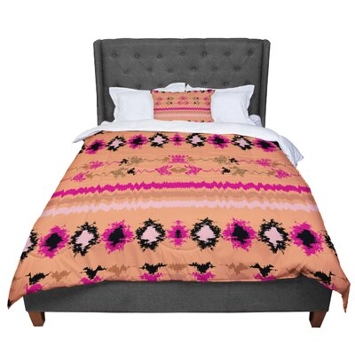 Nina May Peachy Nava Tribal Comforter Size: King