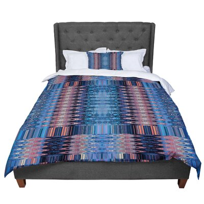 Nina May Larina Nueva Sky Comforter Size: King, Color: Blue/Orange