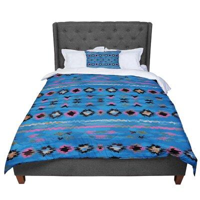 Nina May Navano Tribal Comforter Size: King, Color: Blue