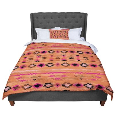 Nina May Navano Tribal Comforter Size: King, Color: Orange