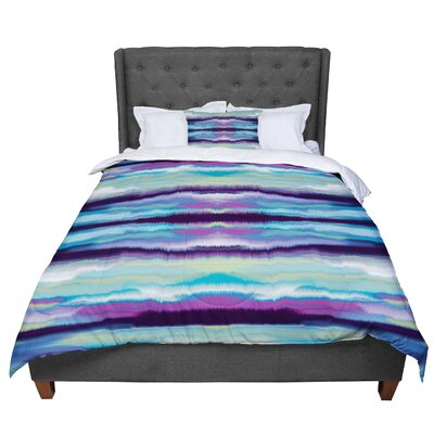Nina May Artik Stripe Comforter Size: Queen