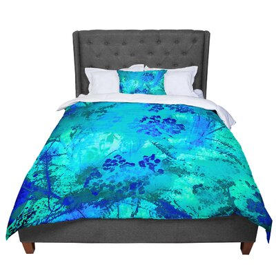 Nina May Wildflowers Comforter Size: Queen, Color: Teal/Blue