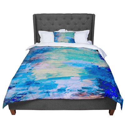 Nina May Mineral Surf Abstract Comforter Size: King