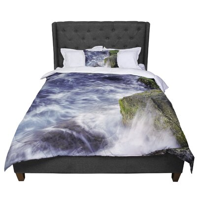 Nick Nareshni Wave against La Jolla Rocks Ocean Comforter Size: Queen