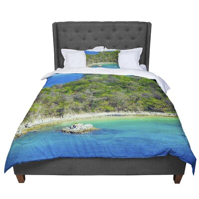 Nick Nareshni the Lonely Fisherman Photography Comforter Size: King