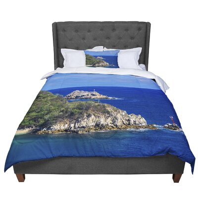 Nick Nareshni Stone Ocean Walls Photography Comforter Size: Twin