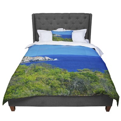 Nick Nareshni Forest to the Ocean Photography Comforter Size: Queen
