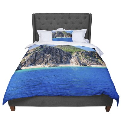 Nick Nareshni Stone Hills Coastline Photography Comforter Size: King