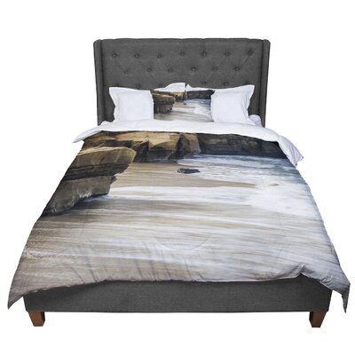 Nick Nareshni La Jolla Cliffside Photography Comforter Size: King