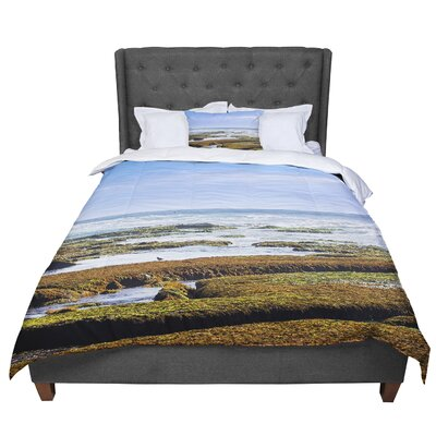 Nick Nareshni Low Tide Reef Photography Comforter Size: Queen