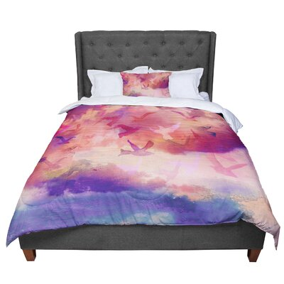 Nikki Strange Souffle Sky Comforter Size: King